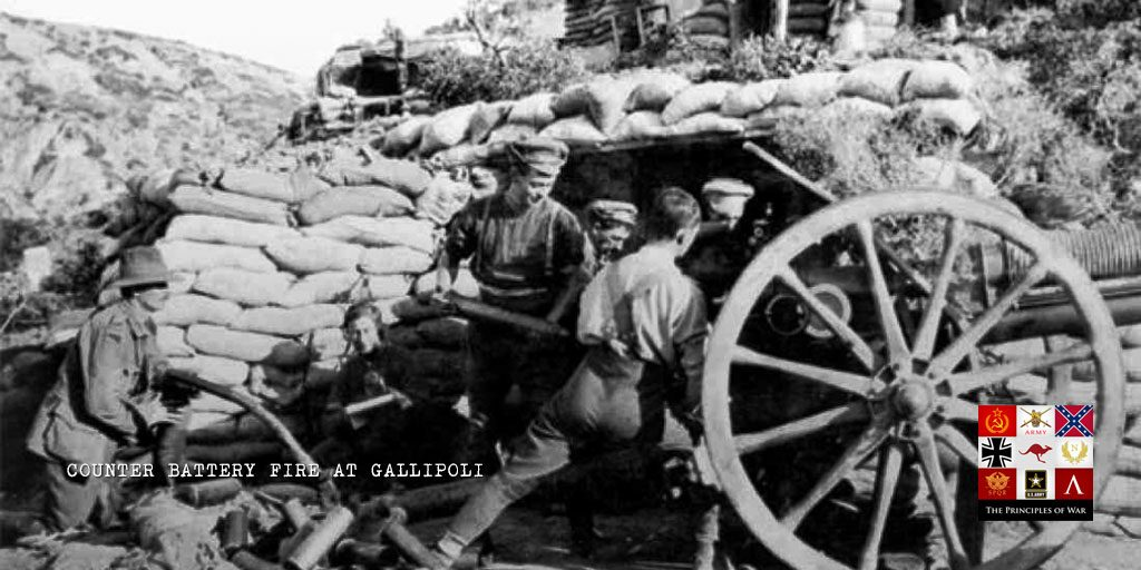 Counter Battery Fire at Gallipoli