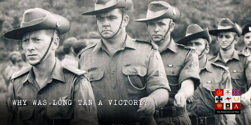 How did the Australians win at Long Tan?