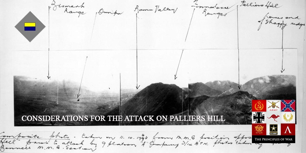 43 – The considerations for the attack on Palliers Hill