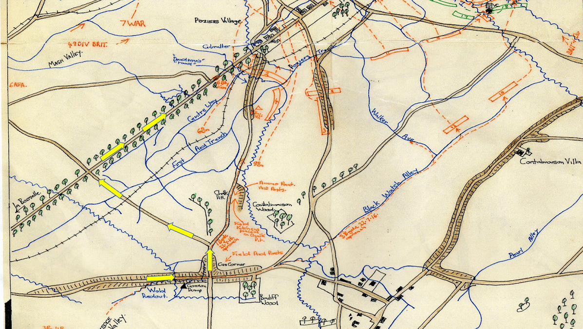 Map of Pozieres