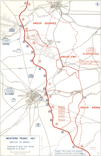 The Arras Offensive Map